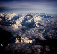 Alps at 35,000 Feet