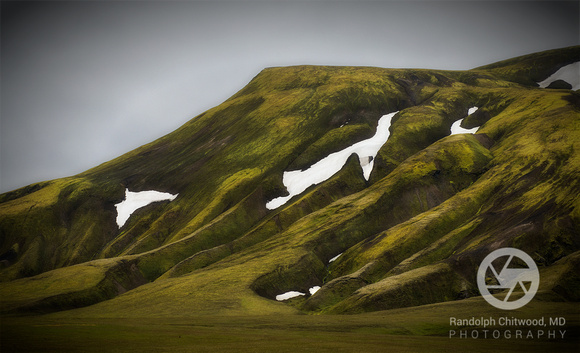 Mossy Hill and Snow - Iceland