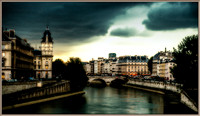 Stormy Skies Over the  Seine