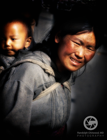 Tibetian Woman and Child - Lhasa -1999